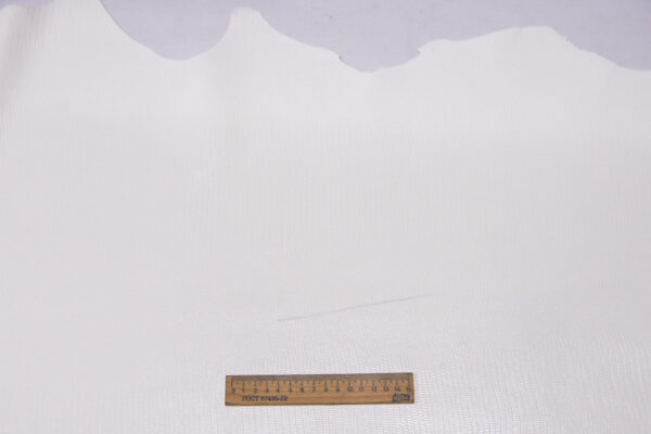 Кожа теленка с тиснением под игуану, белая, 102 дм2, Bonaudo S.p.A.-110087