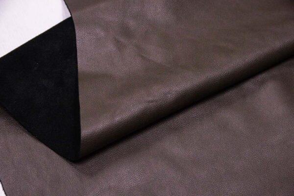 Кожа КРС, флотар (мелкое зерно), серый хаки, 182 дм2.-110100