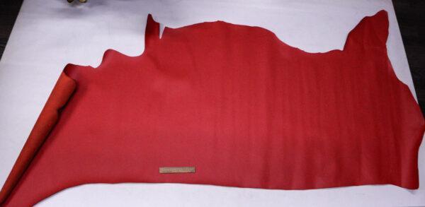 Кожа КРС, красная, 166 дм2.-110109