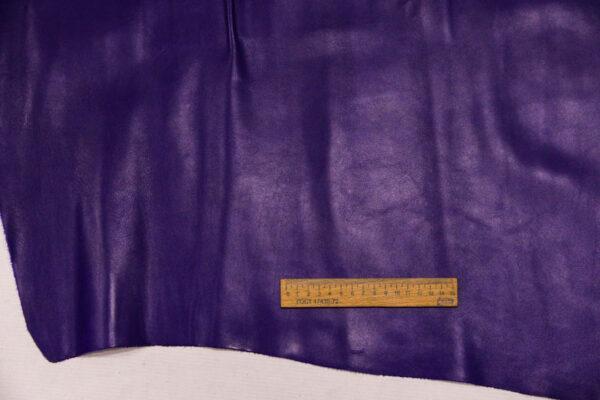 Кожа КРС, фиолетово-синяя, 110 дм2.-110119