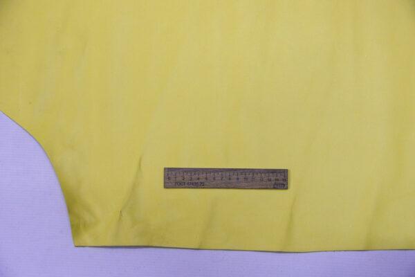 Кожа КРС, желто-лимонная, 116 дм2.-110121