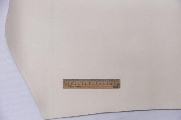 Кожа КРС, сафьяно (Saffiano), молочная, 116 дм2.-110131