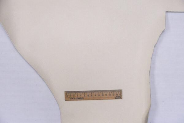 Кожа КРС, сафьяно (Saffiano), молочная, 94 дм2.-110132