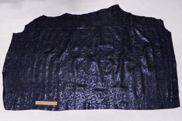 Спил КРС с принтом и тиснением, темно-синий металлик, 110 дм2, Fisap S.r.l.-110155