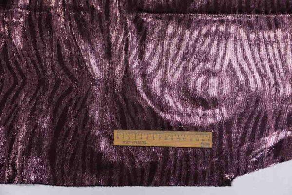 Спил КРС с принтом и тиснением, розово-фиолетовый металлик, 142 дм2, Alvin Pelli S.p.A.-110156