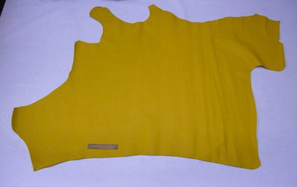 Кожа КРС сафьяно (Saffiano), желтая, 118 дм2.-110168