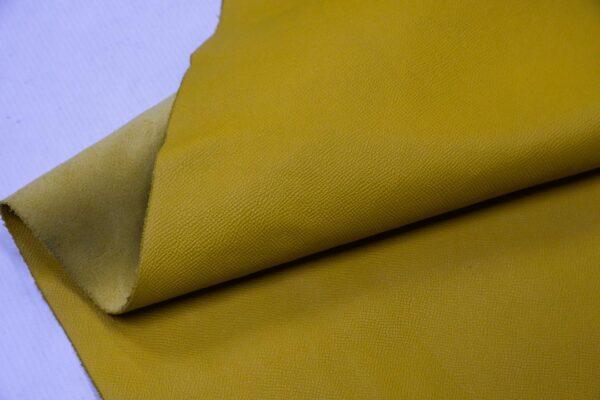 Кожа КРС сафьяно (Saffiano), желтая, 150 дм2.-110169