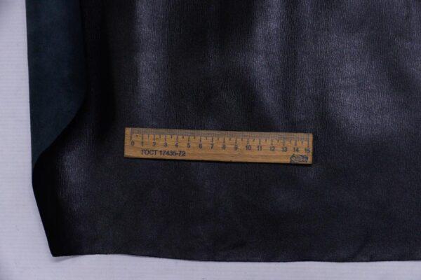 Кожа КРС сафьяно (Saffiano), черная, 142 дм2.-110170