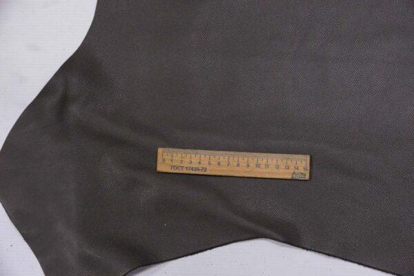 Кожа КРС сафьяно (Saffiano), серая, 203 дм2, Pomari - Rino Mastrotto Group S.p.А.-110171