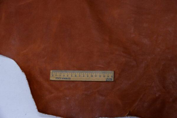 Кожа КРС растительного дубления, коньячная, 76 дм2, Tempesti S.p.A.-110196