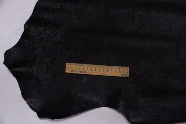 Кожа теленка, черная, 115 дм2.-110197
