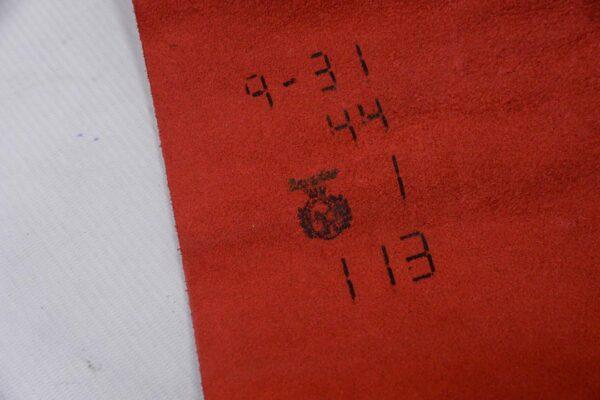 Кожа КРС сафьяно (Saffiano), красная, 113 дм2.-110200