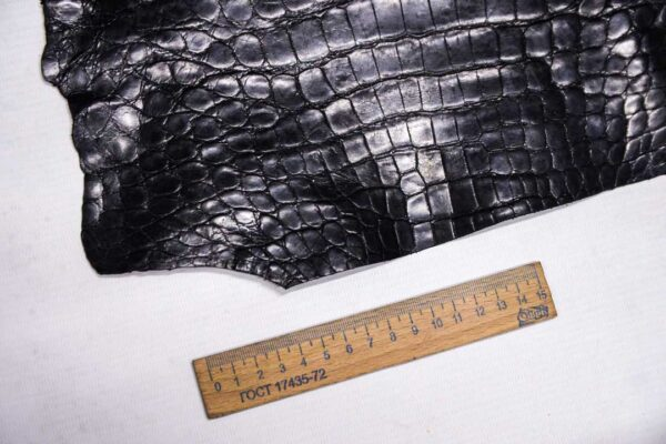 Кожа крокодила, черная- kr-355
