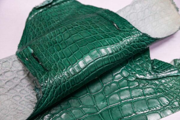 Кожа крокодила, бирюзовая- kr-365