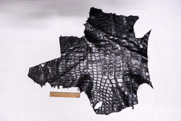 Кожа крокодила, черная- kr-367