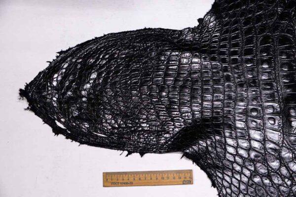 Кожа крокодила, черная- kr-369