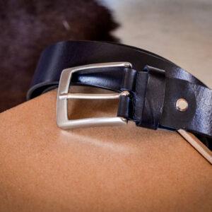 Мужской черный кожаный ремень rm-024 (140/127/3,3)