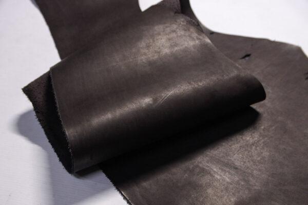 Кожа КРС растительного дубления, пола, шоколадная, 48 дм2.-D1-423