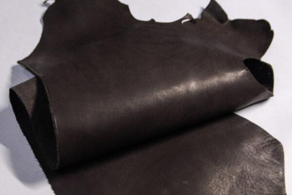 Кожа КРС растительного дубления, пола, шоколадная, 45 дм2.-D1-427