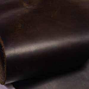 Кожа КРС крейзи хорс (Crazy Horse) с эффектом пул ап (Pull Up), темно-коричневая, 43 дм2.-D1-436