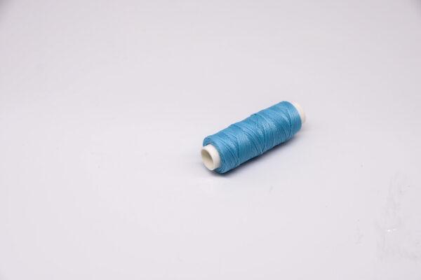 """Нить """"GALACES"""" вощеная круглая 0,45 мм. Голубая-s010"""