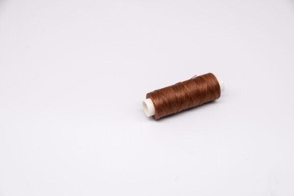 """Нить """"GALACES"""" вощеная круглая 0,45 мм. Коричневая-s019"""