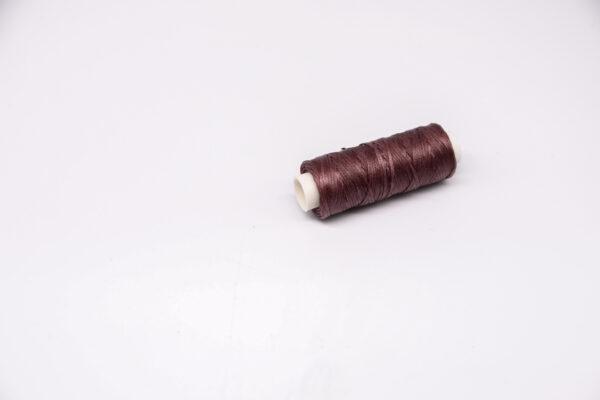 """Нить """"GALACES"""" вощеная плоская. Бордово-коричневая-s029"""