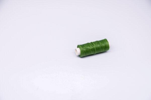 """Нить """"GALACES"""" вощеная плоская. Зеленая-s033"""