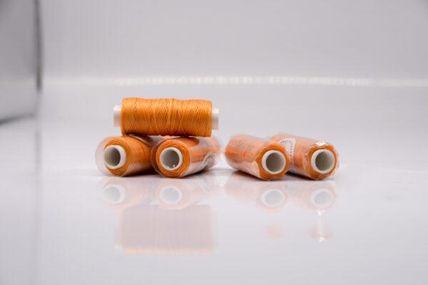"""Нить """"GALACES"""" вощеная плоская. Оранжевая-s040"""