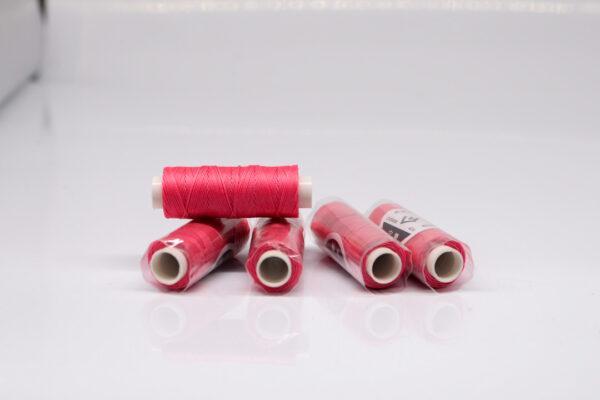"""Нить """"GALACES"""" вощеная круглая 0,45 мм. Розовая фуксия-s048"""