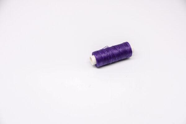 """Нить """"GALACES"""" вощеная плоская. Фиолетовая-s052"""
