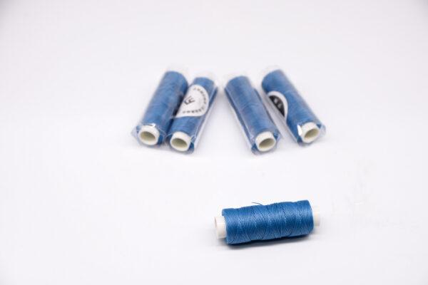 """Нить """"GALACES"""" вощеная круглая 0,45 мм. Светло-синяя-s067"""