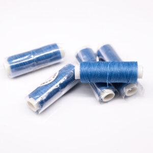 """Нитка """"GALACES"""" воскована кругла 0,55 мм. Світло-синя-s067"""