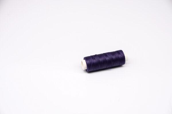 """Нить """"GALACES"""" вощеная круглая 0,45 мм. Темно-фиолетовая-s073"""