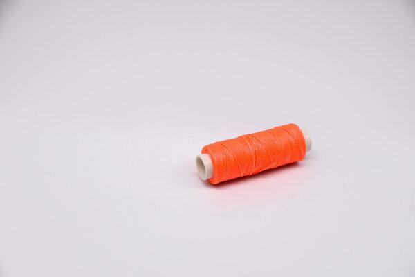 """Нить """"GALACES"""" вощеная круглая 0,45 мм. Неон оранжевый-s076"""