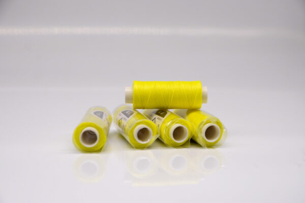 """Нить """"GALACES"""" вощеная круглая 0,45 мм. Неон лимонный-s077"""