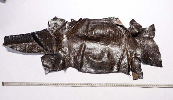 Кожа игуаны, темно-коричневая, 87х33 см.- ign-041