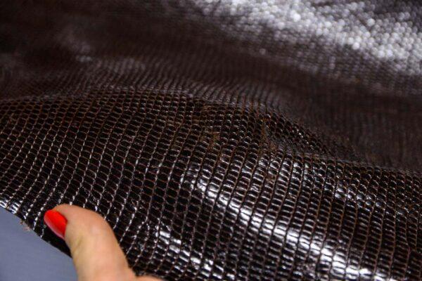 Кожа игуаны, темно-коричневая, 103х43 см.- ign-042