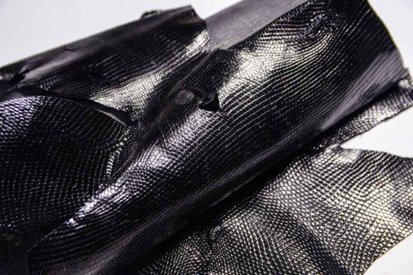 Кожа игуаны, черная, 71х35 см.- ign-046