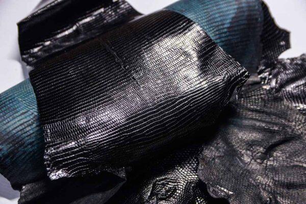 Кожа игуаны, черная, 86х35 см.- ign-049
