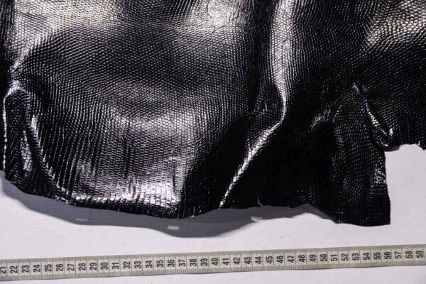 Кожа игуаны, черная, 72х35 см.- ign-050