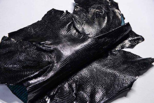 Кожа игуаны, черная, 60х35 см.- ign-051
