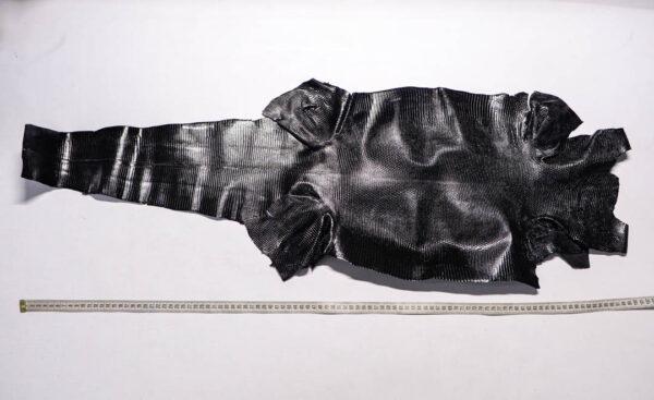 Кожа игуаны, черная, 103х35 см.- ign-053