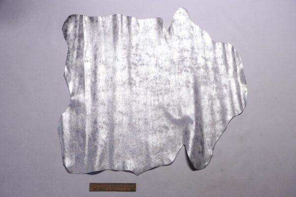 Велюр МРС с принтом, серебро с мраморным эффектом, 39 дм2, Conceria Liberty S.r.l.-110205