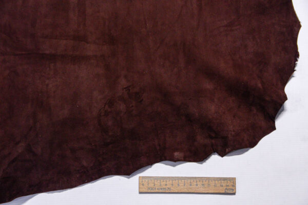Велюр МРС (коза), темно-коричневый, 39 дм2.-110219