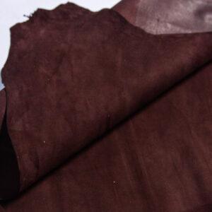 Велюр МРС (коза), темно-коричневый, 39 дм2.-110220