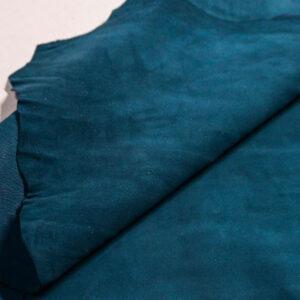 Велюр МРС (коза), темно-бирюзовый, 35 дм2, Conceria Stefania S. p. A.-110228
