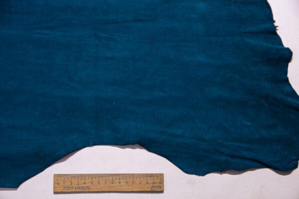 Велюр МРС (коза), темно-бирюзовый, 33 дм2, Conceria Stefania S. p. A.-110229