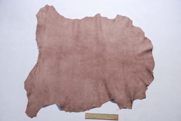 Велюр МРС (коза), грязно-розовый, 34 дм2.-110235