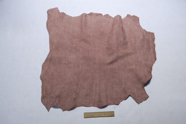 Велюр МРС (коза), грязно-розовый, 38 дм2.-110237